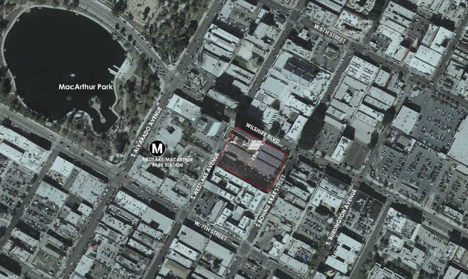 Project site and surroundings (Image: LADCP)